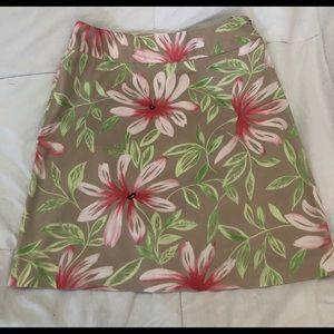 Talbots Floral Skirt Sz6